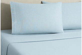 Belle Epoque Flannel Gingham Sheet Set - Blue Full