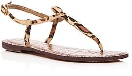 Sam Edelman Women's Gigi Leopard Print Calf Hair Thong Sandals