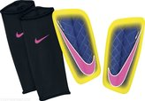 Nike Mercurial Lite Shin Guard, Yellow/Purple/Pink, Size XL