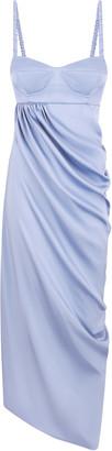 Anna October Lilac Bustier Bodice Midi Dress