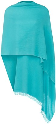 Uk Pashmina Turquoise Wool and Silk Pashmina