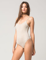 Full Tilt Ribbed Tank Womens Bodysuit