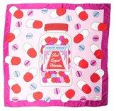 Yazbukey Silk Abstract Print Scarf w/ Tags