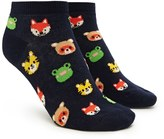 Forever 21 FOREVER 21+ Animal Print Ankle Socks