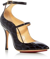 Charlotte Olympia Lyra Double Strap Pointed Toe Pumps