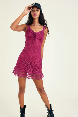 Haute Rogue Daisy Lace Mini Dress