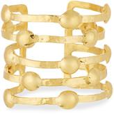 Devon Leigh Dodgit Hammered Gold-Plate Open Bar Cuff Bracelet