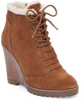 Jessica Simpson Kaelo Faux Shearling Leather Wedge Boots