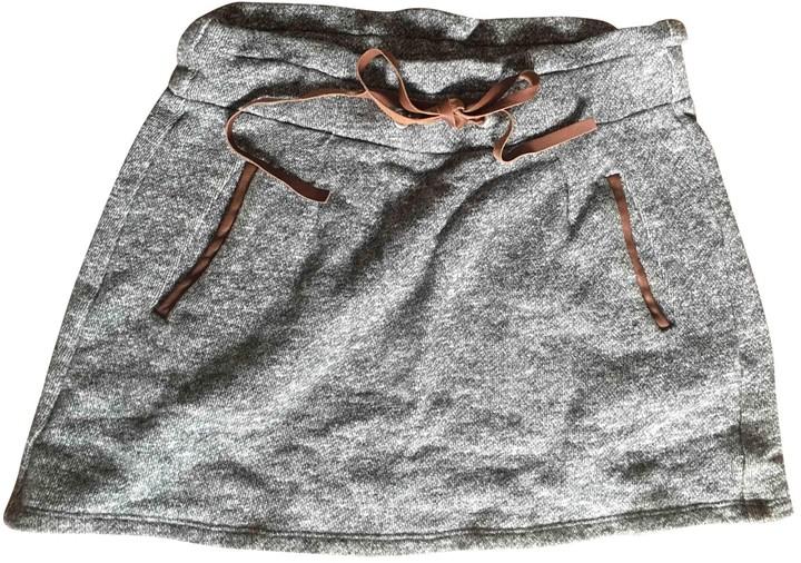 Sandro Fall Winter 2018 Grey Cotton Skirt for Women