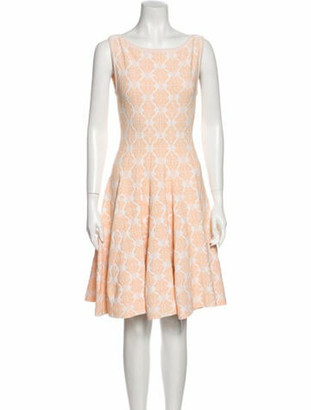 Alaia Printed Knee-Length Dress Orange
