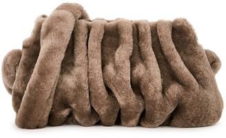 Elleme Vague brown shearling shoulder bag