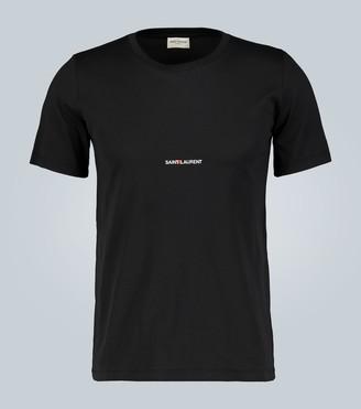 Saint Laurent Signature logo cotton T-shirt