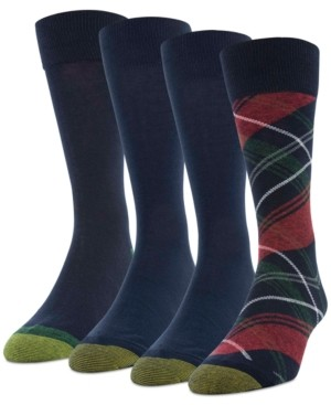 Gold Toe Men's 4-Pack Christmas Plaid Socks