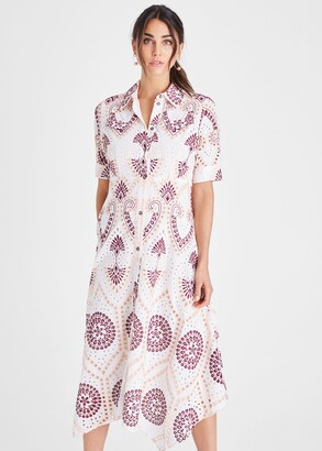 Phase Eight Kaylor Embroidered Shirt Dress