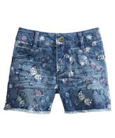 Epic Threads Butterfly-Print Denim Shorts, Little Girls, Created for Macy's