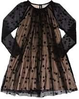 Stella McCartney KIDS' STAR-EMBROIDERED TULLE DRESS