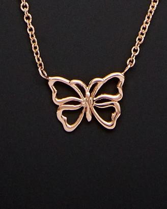 14K Italian Rose Gold Butterfly Necklace
