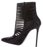 Rene Caovilla Strass Cage Ankle Boots