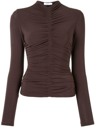 A.L.C. Ansel ruched jersey top