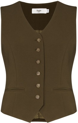 Frankie Shop Contrast-Button Fitted Waistcoat