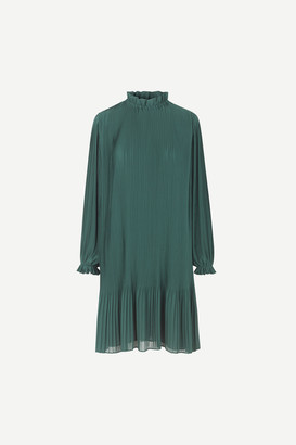 Samsoe & Samsoe Mindy Long sleeve dress - Sea moss - xxsmall | polyester | green - Green/Green