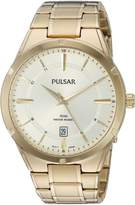 Pulsar Men's Quartz Stainless Steel Casual Watch, Color:Gold-Toned (Model: PS9524)