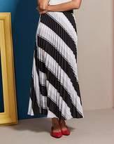 Fashion World Stripe Sunray Pleat Maxi Skirt