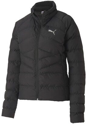 Puma Down Logo Jacket with High Collar and Water-Repellent Fabric