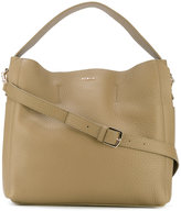 Furla logo plaque tote - women - Leather - One Size