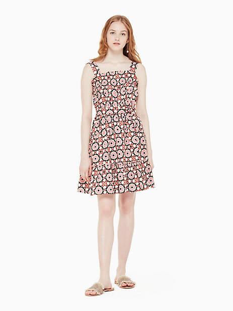 Kate Spade Floral mosaic poplin dress