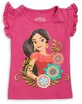 Disney Little Girl's Ruffled-Sleeve Princess Elena Tee