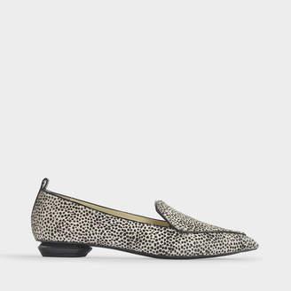 Nicholas Kirkwood 18Mm Beya Loafers In Leopard Printed Haircalf