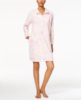 Miss Elaine Plush Zip-Front Robe