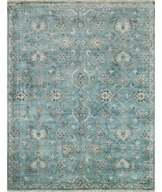 """Loloi Rugs Kehoe Oriental Hand Knotted Blue Area Rug Rug Size: Rectangle 5'6"""" x 8'6"""""""