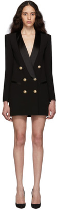Balmain Black Crepe Jacket Dress