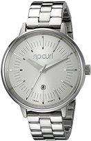 Rip Curl Women's A2838G-WHI Lindsay Analog Display Analog Quartz Silver Watch