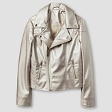 CoffeeShop Kids Girls' Moto Jacket - White Gold