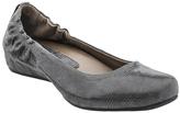 Earthies Dark Gray Leather Tolo Flat