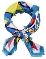 MANGO Fringes printed scarf