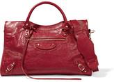 Balenciaga City Textured-leather Tote - Crimson