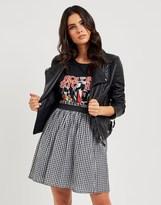 Vero Moda Gingham Skater Skirt