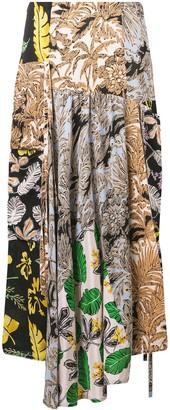 3.1 Phillip Lim Patchwork-Print A-Line Skirt