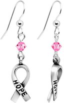 Body Candy Handcrafted Pink Crystal Breast Cancer Earrings Created with Swarovski Crystals