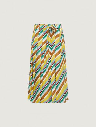 Marella Aidin Stripe Pleat Culotte - 8