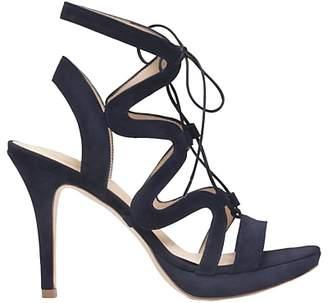Sargossa Chic Lace Up Stiletto Heel Sandals, Navy Suede