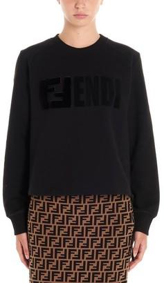 Fendi FF Logo Patch Cropped Sweater
