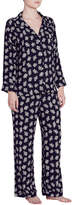 Eberjey Lou Floral-Print Silk Pajama Set