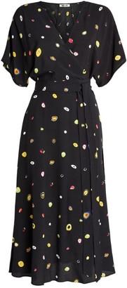 Diane von Furstenberg Printed Kelsey Wrap Midi Dress