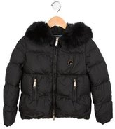 DSQUARED2 Girls' Fur-Trimmed Puffer Jacket w/ Tags