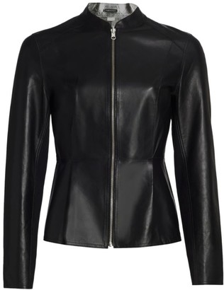 LAMARQUE Rachel Reversible Metallic Leather Jacket